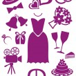 Wedding icons — Stock Vector #26598897