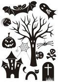 Halloween-icons — Stockvektor