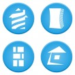Real estate symbols — Stockvektor