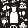 Wedding icons — Stock Vector #26867619