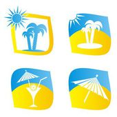 Sumer icons — Stock Vector