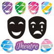 Theatrical mask — Stock Vector