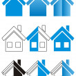 House construction and real estate icons — Stockvektor