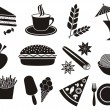 Food and beverage icons — Vettoriali Stock