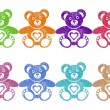 Stock Vector: Teddy bears