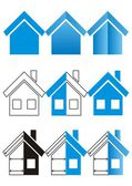 House construction and real estate icons — Stock Vector