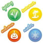 Seasons icons — Stock Vector