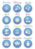Takvim ikonlar — Stok Vektör
