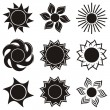 Abstract icons of sun — Stock Vector