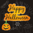 Halloween card — Vector de stock #32124367
