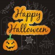 Stock Vector: Halloween card