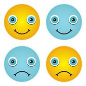 Emotions icons — Stock Vector