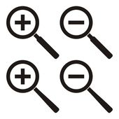 Zoom icons — Stock Vector