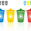 Recycling bins — Stock Vector #32695503