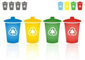 Recycling bins — Stock Vector