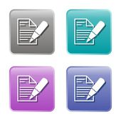 Write note icons — Stock Vector
