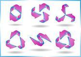 3D arrows — Stock Vector