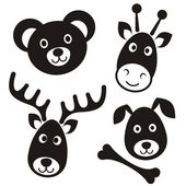 Roztomilé kreslené zvířata — Stock vektor