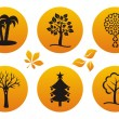 Tree icons — Stock Vector