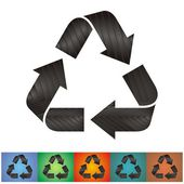 Recycle symbols — Stock Vector