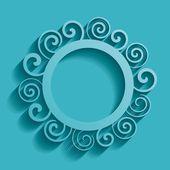 Abstract round ornament — Vector de stock
