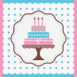 Birthday cake — Stock Vector #38668753