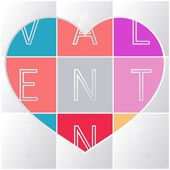 Valentine's car — Vector de stock