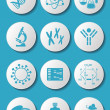 Biology science icons — Stock Vector #40036943