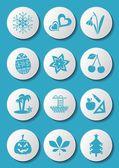 Calendar icons — Vector de stock
