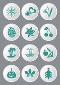 De pictogrammen van de kalender — Stockvector