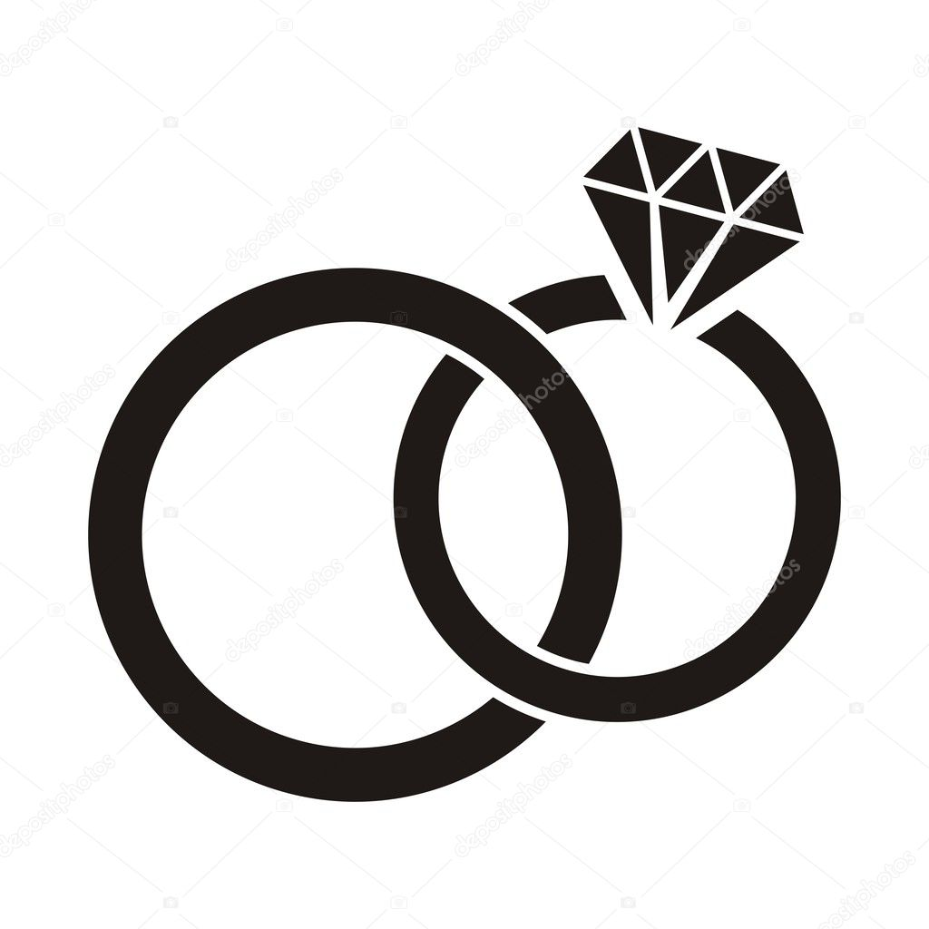 interlocking wedding rings clipart - photo #32