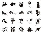 婚礼的图标 — 图库矢量图片