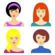 Woman faces — Stock Vector