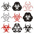 Biohazard symbols — Stock Vector