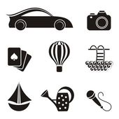 Hobby and leisure icons — Vector de stock