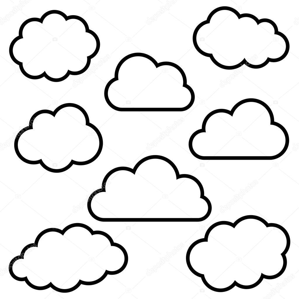 Free coloring pages of nubes animadas - Plantillas para dibujar en la pared ...