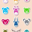 Animal labels — Stock Vector