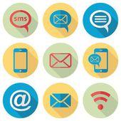 Ikony komunikacji — Wektor stockowy
