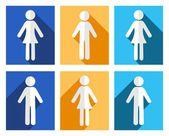 男人和女人的图标 — 图库矢量图片