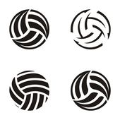 Volleyball balls — Vettoriale Stock
