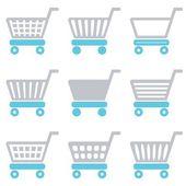 Iconos de carrito de compras — Vector de stock