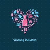 свадебное приглашение — Cтоковый вектор