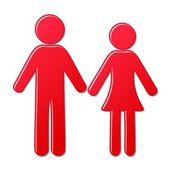 мужчина и женщина иконки — Cтоковый вектор