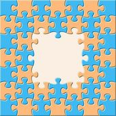 Jigsaw puzzle — Vector de stock