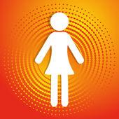 žena ikona — Stock vektor