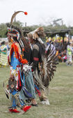 Native American Children Dancers - Pow Wow — Stock Photo