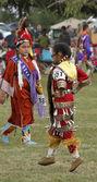 Bailarines niños nativos americanos — Foto de Stock