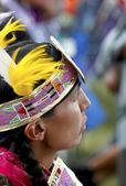 Native American Male Dancer — Stock Photo