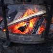 Stock Photo: Fireplace outside