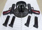 Guns target — Stock Photo